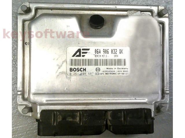 ECU Seat Alhambra 1.8 06A906032QK 0261208687 ME7.5 AWC {