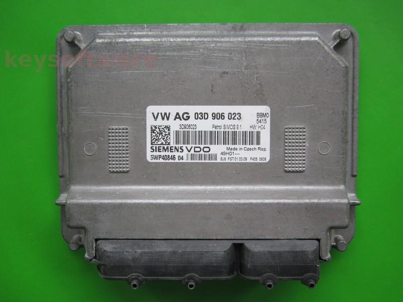 ECU Skoda Fabia 1.2 03D906023 5WP40846 SIMOS 9.1