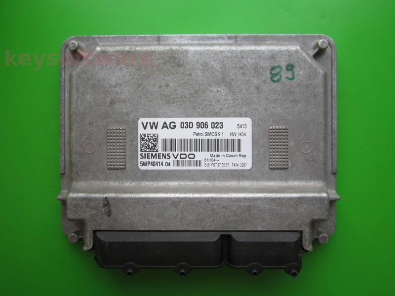 ECU Skoda Fabia 1.2 03D906023 5WP40414 SIMOS 9.1