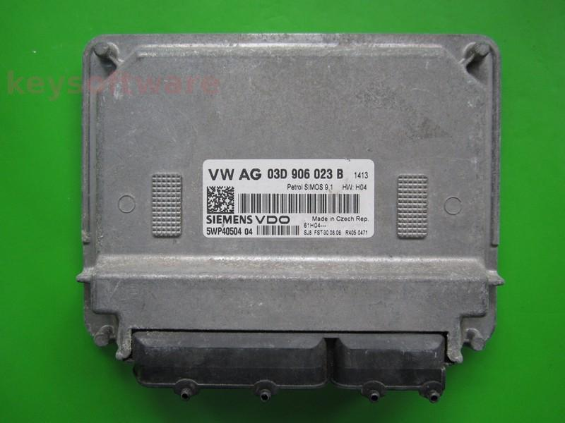 ECU Skoda Fabia 1.2 03D906023B 5WP40504 SIMOS 9.1 BMD