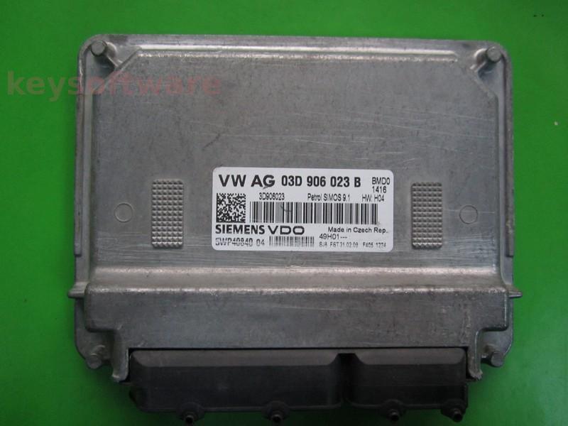 ECU Skoda Fabia 1.2 03D906023B 5WP40840 SIMOS 9.1 BMD