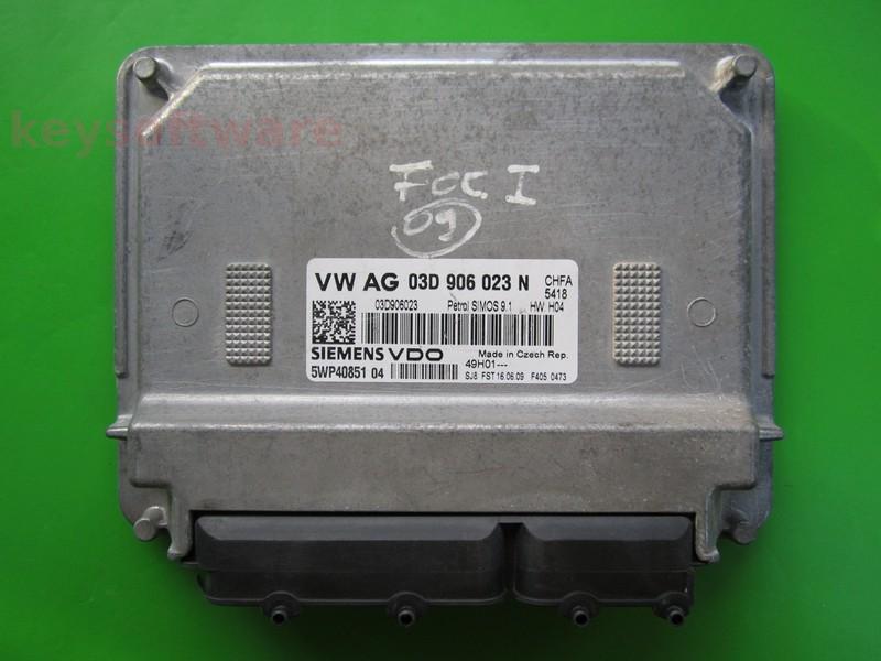 ECU Skoda Fabia 1.2 03D906023N 5WP40851 SIMOS 9.1 {