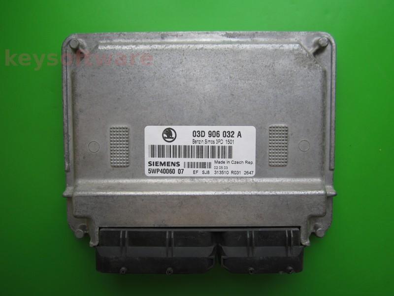 ECU Skoda Fabia 1.2 03D906032A 5WP40060 SIMOS 3PD AWY