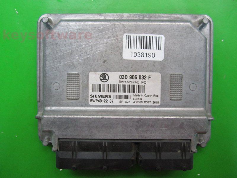 ECU Skoda Fabia 1.2 03D906032F 5WP40122 SIMOS 3PD {