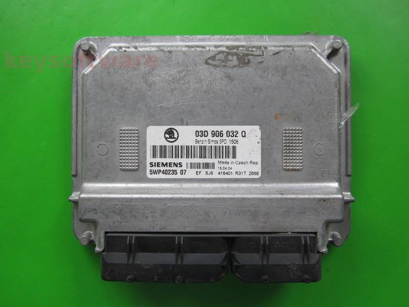 ECU Skoda Fabia 1.2 03D906032Q 5WP40235 SIMOS 3PD