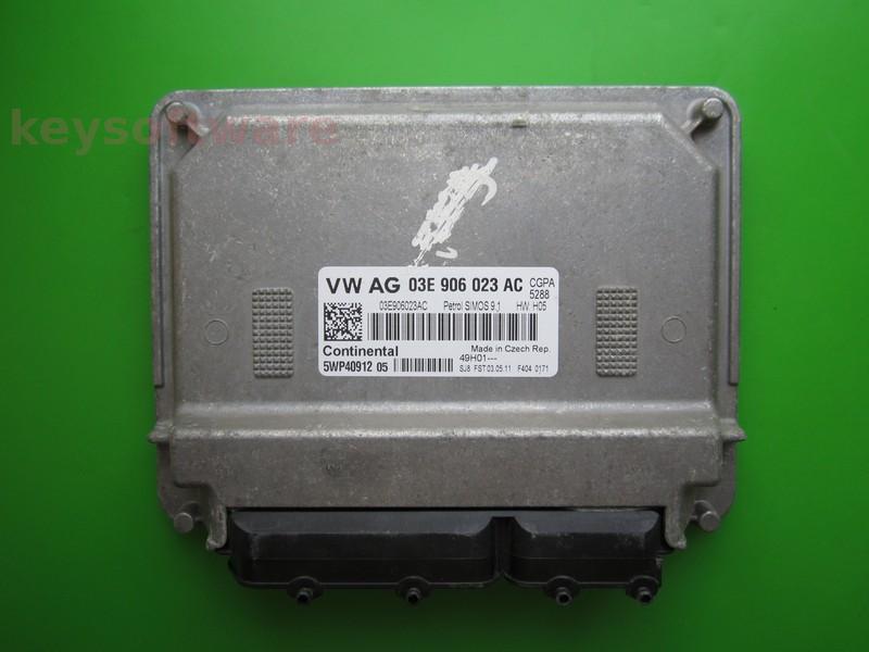 ECU Skoda Fabia 1.2 03E906023AC 5WP40912 SIMOS 9.1