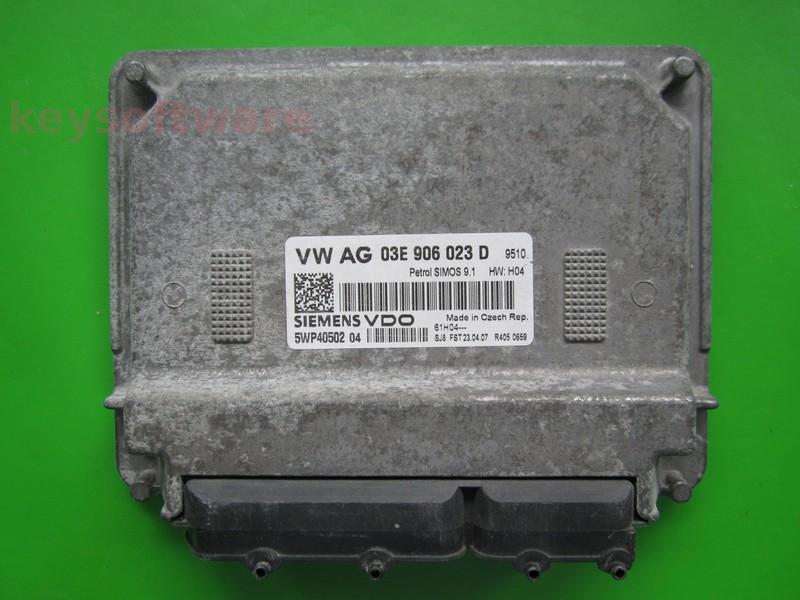 ECU Skoda Fabia 1.2 03E906023D 5WP40502 SIMOS 9.1