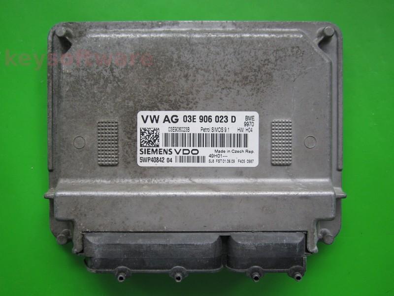 ECU Skoda Fabia 1.2 03E906023D 5WP40842 SIMOS 9.1