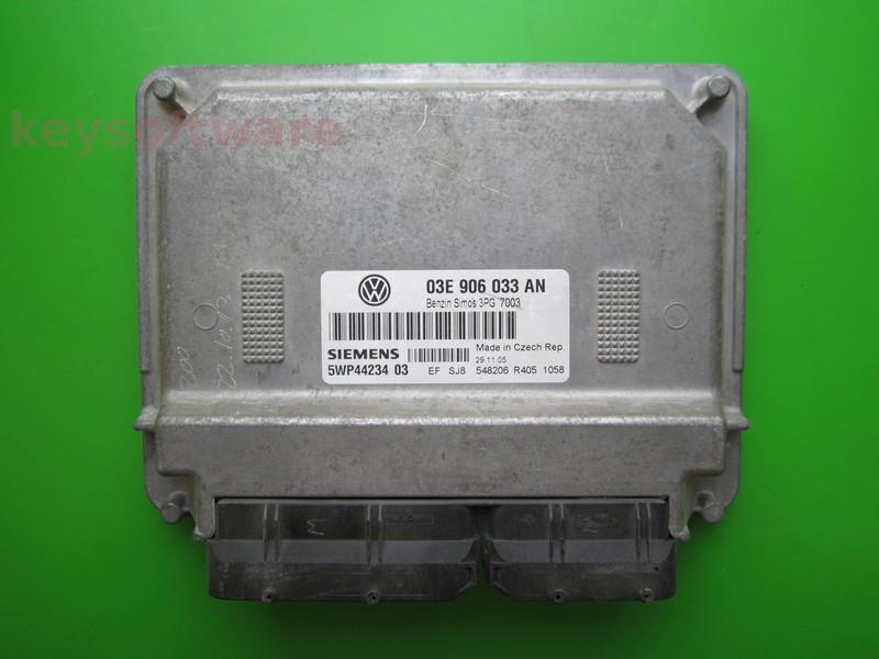 ECU Skoda Fabia 1.2 03E906033AN SIMOS 3PG BME
