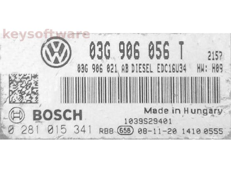 ECU Skoda Superb 1.9TDI 03G906056T 0281015341 EDC16U34 {