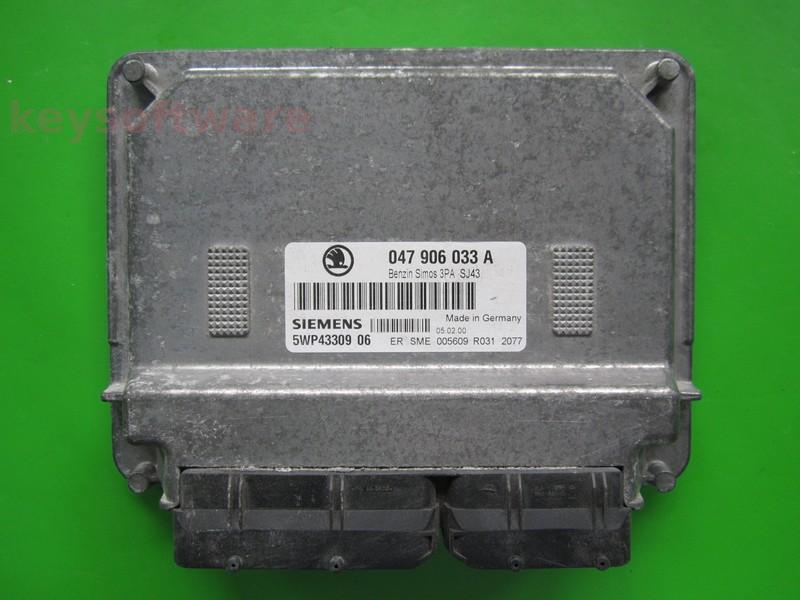 ECU Skoda Fabia 1.4 047906033A 5WP43309 SIMOS 3PA ATZ