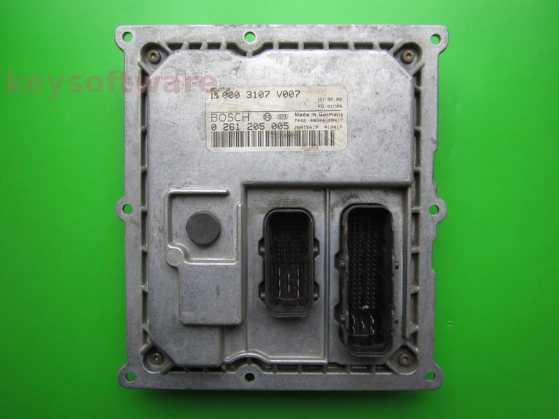 ECU Smart Fortwo 0.6 0003107V007 0261205005 MEG1.0