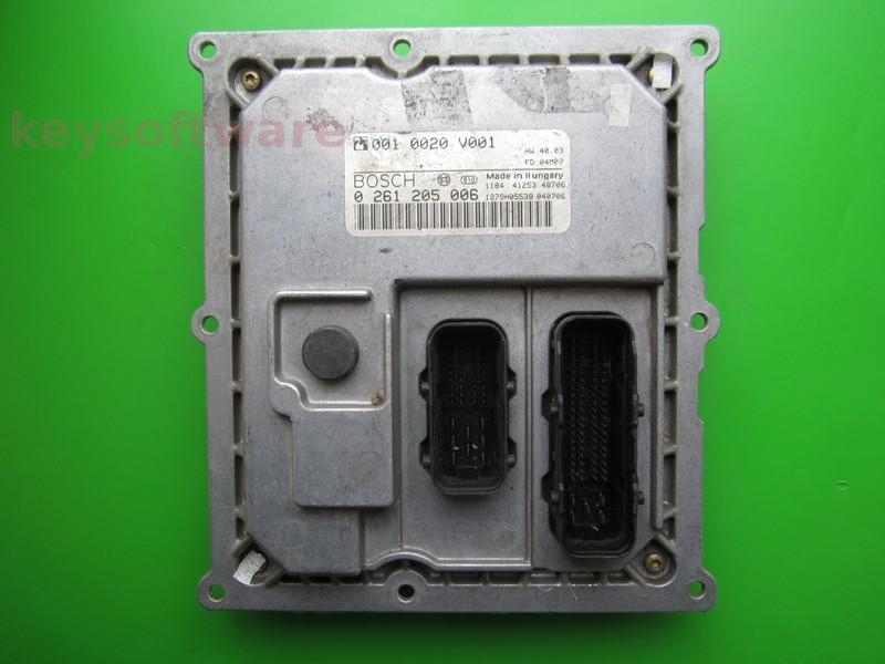 ECU Smart Fortwo 0.7 0261205006 MEG1.0 +