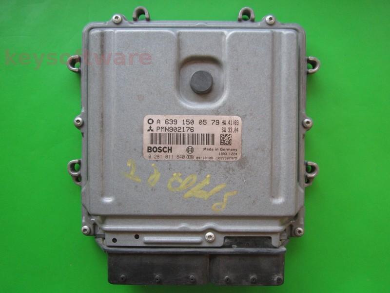ECU Smart Forfour 1.5CDI A6391500579 0281011840 EDG16C33
