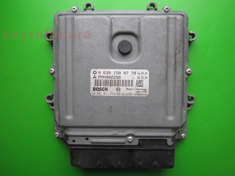 ECU Smart ForFour 1.5CDI 0281011840 A6391500779 EDC16C33