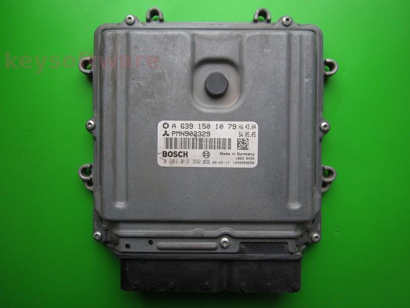 ECU Smart Forfour 1.5CDI A6391501079 0281012392 EDG16C33