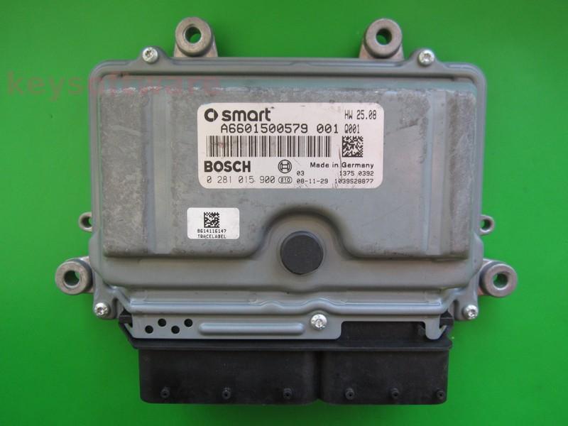 ECU Smart Fortwo 0.8CDI A6601500579 0281015900 EDC16C32