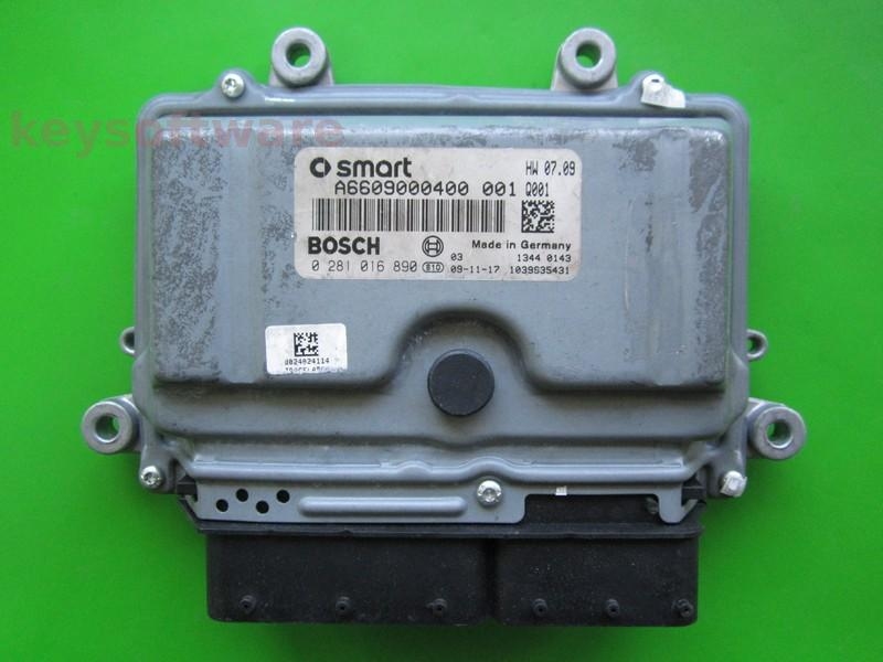 ECU Smart Fortwo 0.8CDI 0281016890 EDC16C32 `
