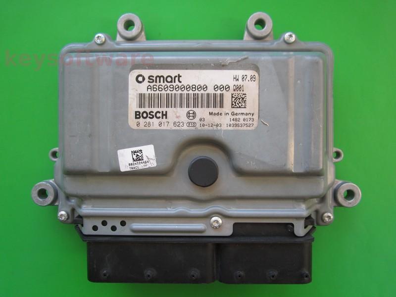 ECU Smart Fortwo 0.8CDI 0281017623 EDC16C32