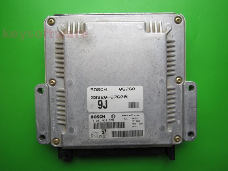 ECU Suzuki Grand Vitara 2.0HDI 33920-67G0 0281010559 EDC15C2 {+