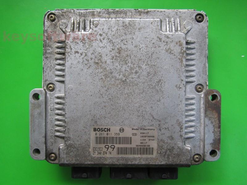 ECU Suzuki Grand Vitara 2.0HDI 33920-53J0 0281011359 EDC15C2 {+