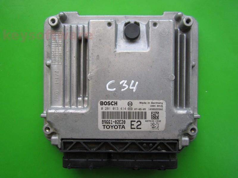 ECU Toyota Auris 2.0D4D 89661-02E20 0281013414 EDC16C10