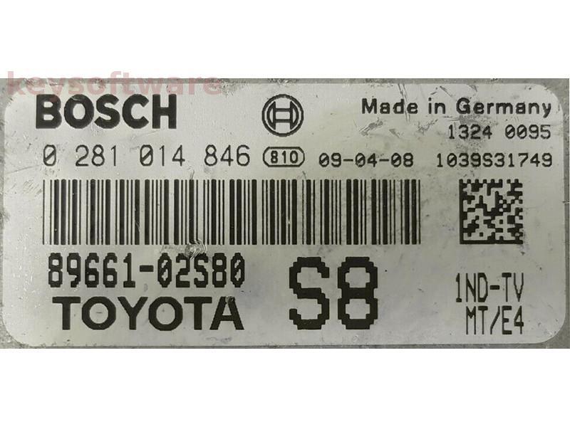 ECU Toyota Auris 1.4D4D 89661-02S80 0281014846 EDC17CP07 {