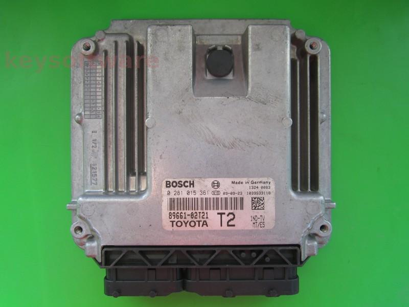 ECU Toyota Auris 1.4D4D 89661-02T21 0281015361 EDC17CP07