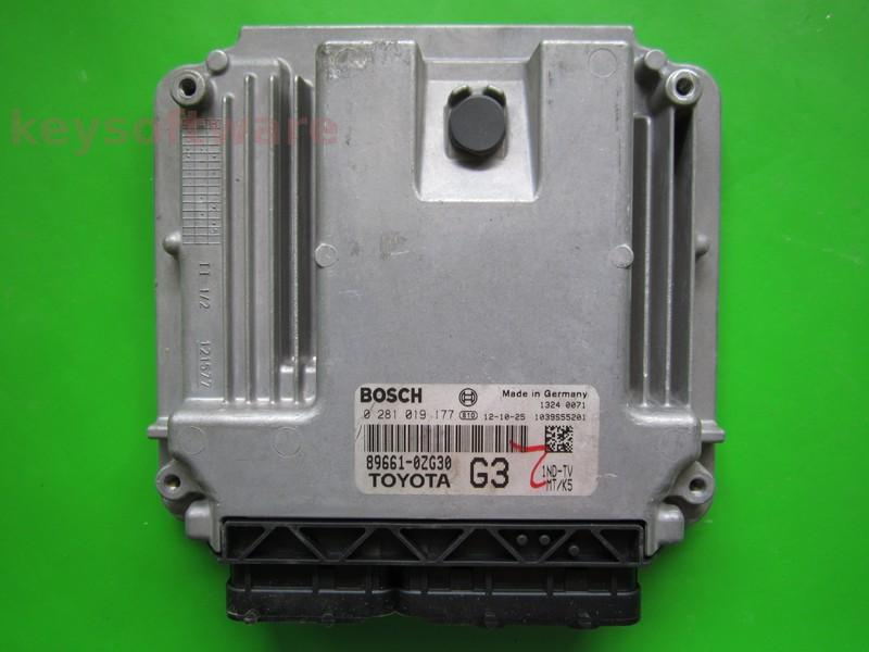 ECU Toyota Auris 1.4D4D 89661-0ZG30 0281019177 EDC17CP37 {