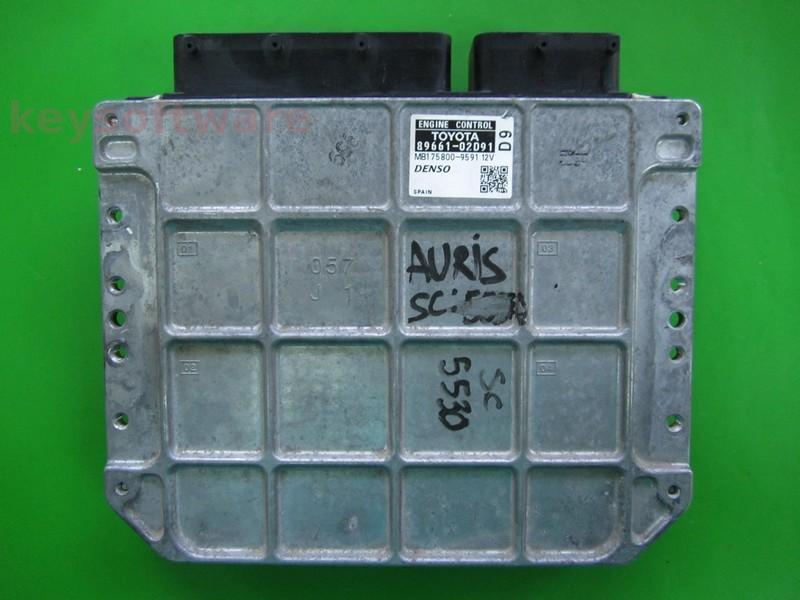 ECU Toyota Auris 2.0 89661-02D91 MB175800-9591