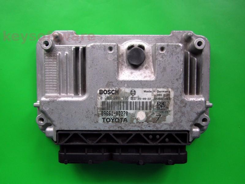 ECU Toyota Yaris 1.0 89661-0D270 0261208936 ME7.9.51