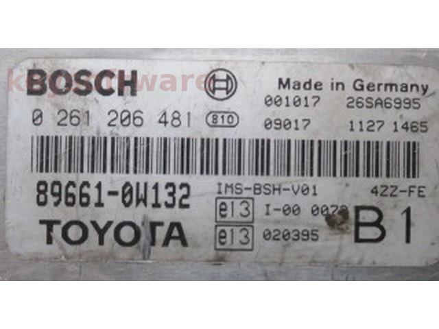ECU Toyota Avensis 1.4 89661-0W132 {
