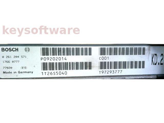 ECU Volvo 850 2.5 P09202014 0261204571 M4.4.1 {