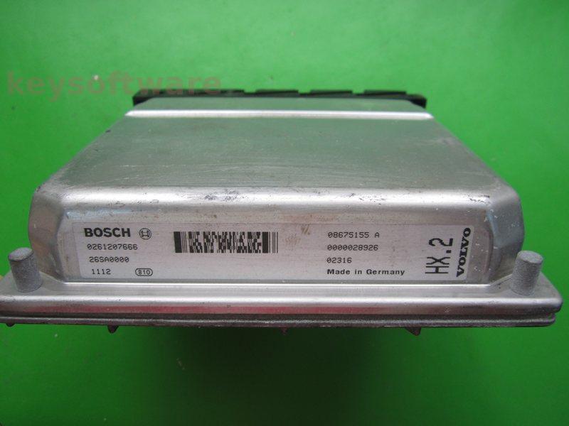 ECU Volvo V70 2.4 08675155A 0261207666 ME7.0.1