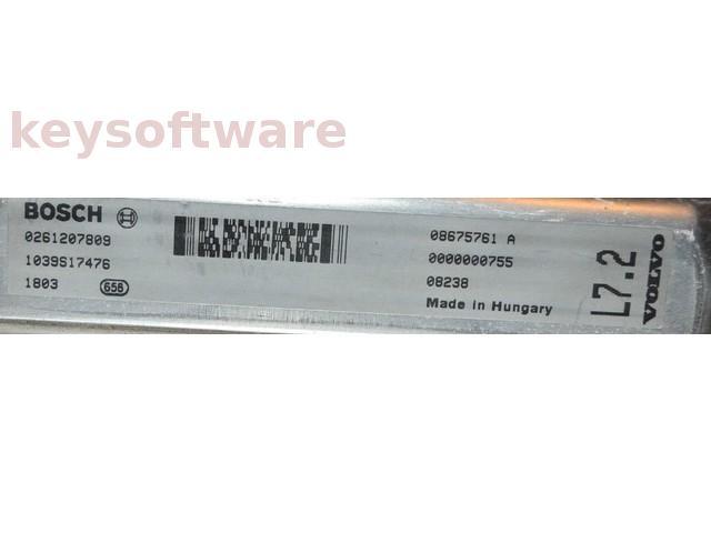 ECU Volvo XC90 2.9 08675761A 0261207809 ME7.0.1 {