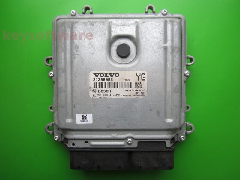 ECU Volvo XC60 2.4D 31336983 0281018414 EDC17CP48