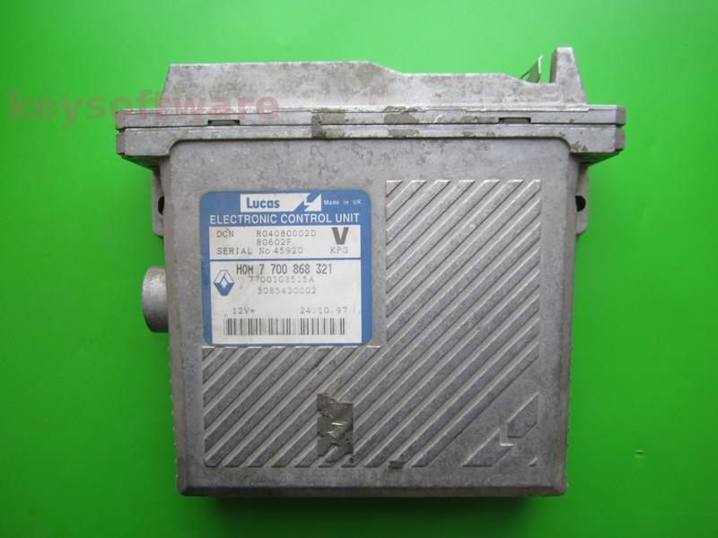 ECU Volvo V40 1.9TD HOM7700868321 DCN