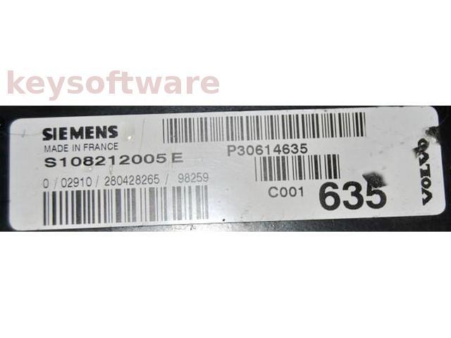 ECU Volvo S40 2.0 P30614635 S108212005E EMS2000 {