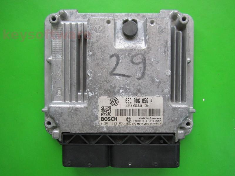 ECU VW Golf5 1.4 03C906056K 0261S02035 MED9.5.10 BCA