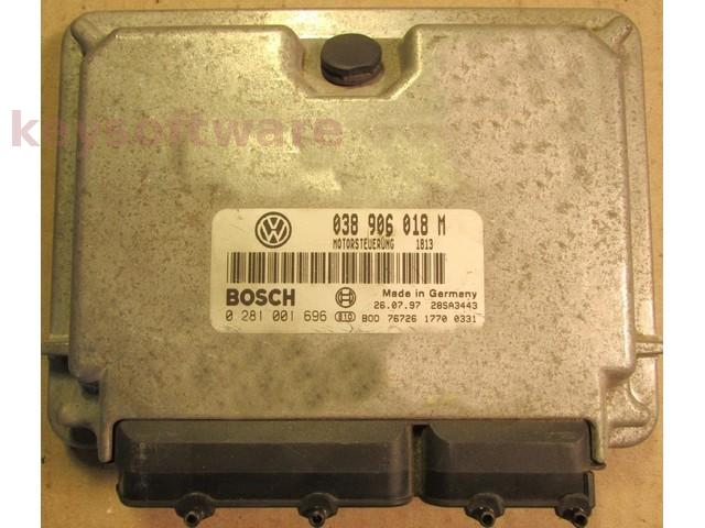 ECU VW Beetle 1.9TDI 038906018M 0281001696 EDC15V {