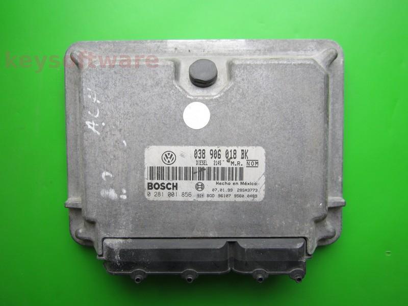 ECU VW Beetle 1.9TDI 038906018BK 0281001856 EDC15V ALH