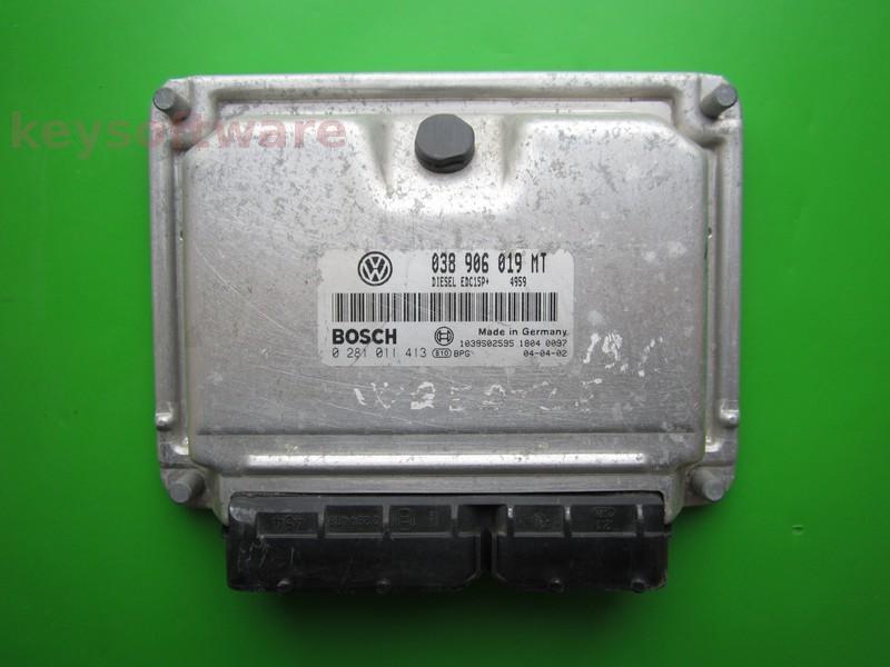 ECU VW Beetle 1.9TDI 038906019MT 0281011413 EDC15P+ ATD