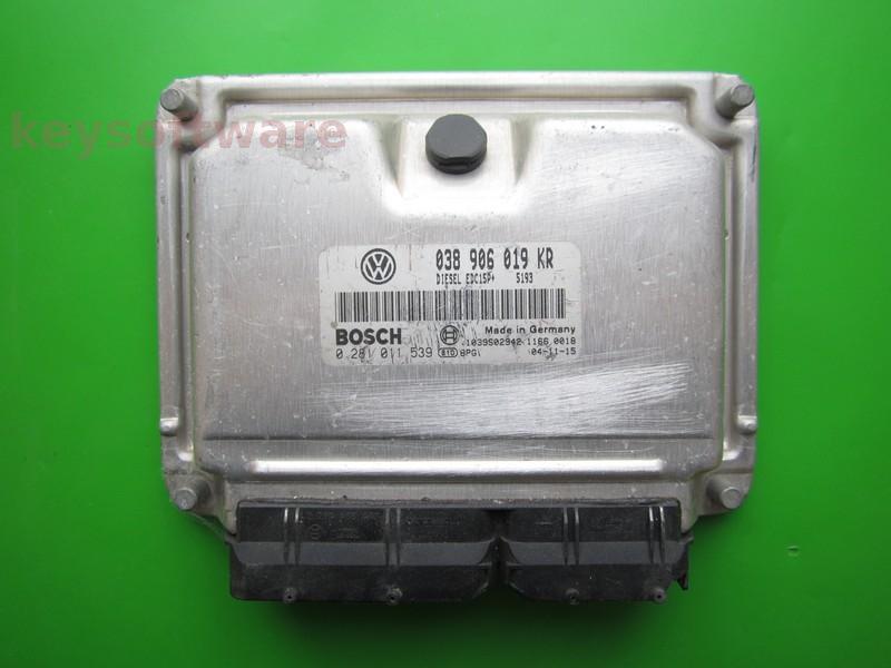 ECU VW Beetle 1.9TDI 038906019KR 0281011539 EDC15P+
