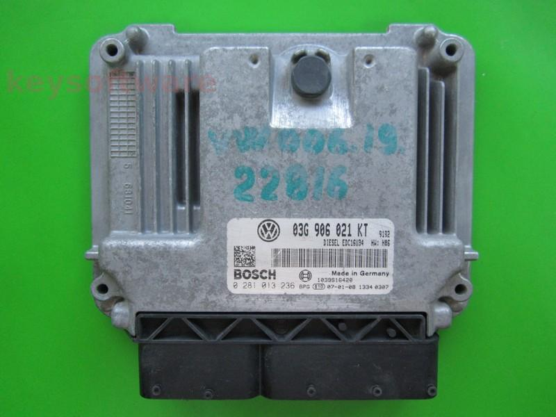 ECU VW Golf5 2.0TDI 0281013236 EDC16U34