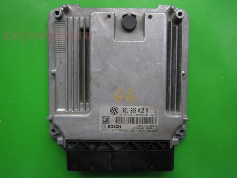ECU VW Crafter 2.0TDI 03L906012Q 0281017789 EDC17C54 CKTB