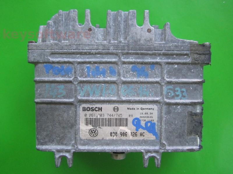 ECU VW Polo 1.0 030906026AC 0261203744 MA1.2.3 AEV