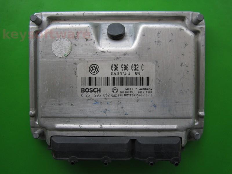 ECU VW Beetle 1.4 036906032C 0261206852 ME7.5.10 BCA{