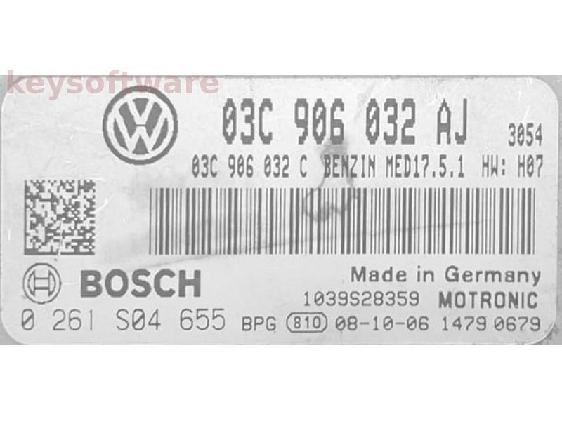 ECU VW Tiguan 1.4 03C906032AJ 0261S04655 MED17.5.1 {