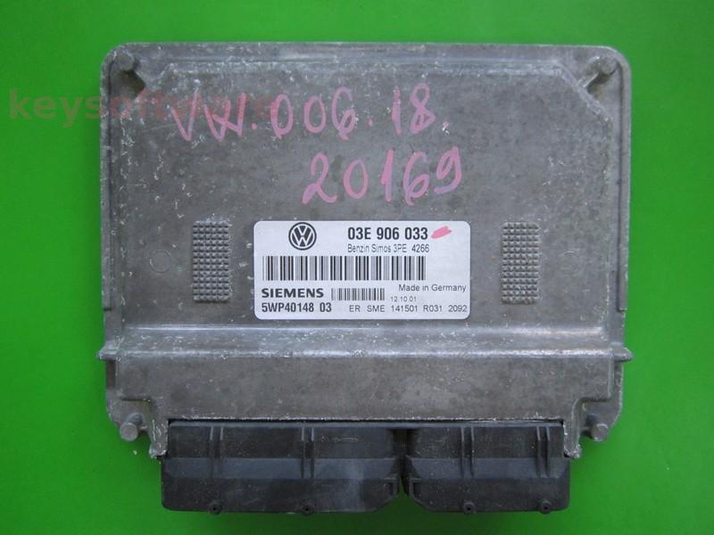 ECU VW Polo 1.2 03E906033 5WP40148 SIMOS 3PE AZQ