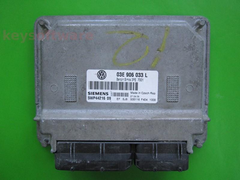 ECU VW Polo 1.2 03E906033L 5WP44216 SIMOS 3PE AZQ